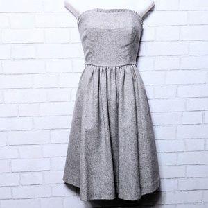 Banana Republic Wool Strapless Ruffle Dress 6